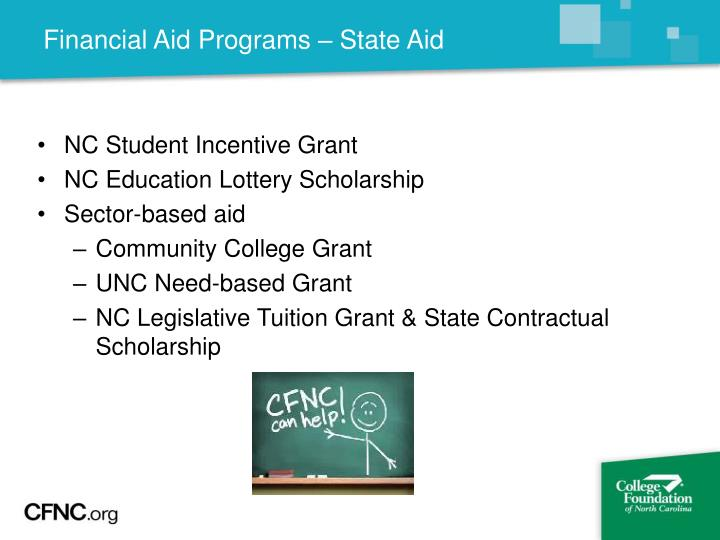 Financial Aid Programs – State Aid