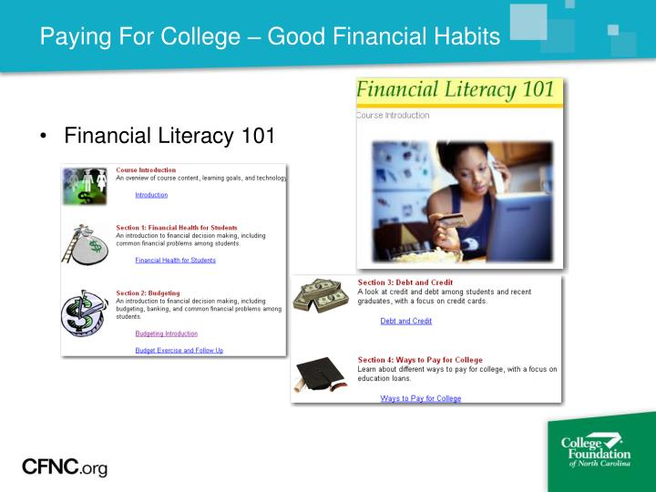 Paying For College – Good Financial Habits