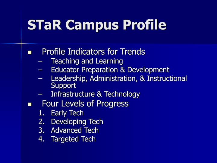 STaR Campus Profile