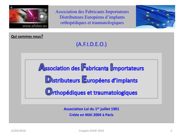 Association des Fabricants Importateurs