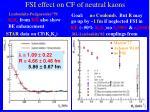 fsi effect on cf of neutral kaons