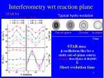 interferometry wrt reaction plane