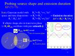 probing source shape and emission duration