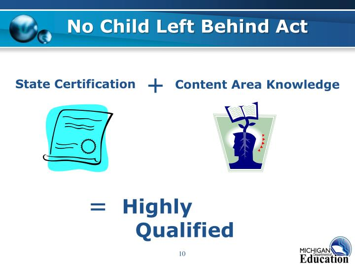 The purpose and goals of the no child left behind act Coursework ...