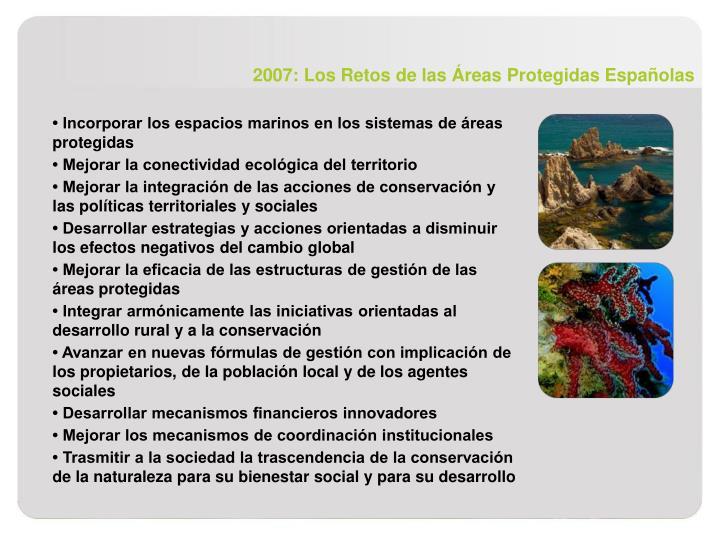 2007: Los Retos de las Áreas Protegidas Españolas