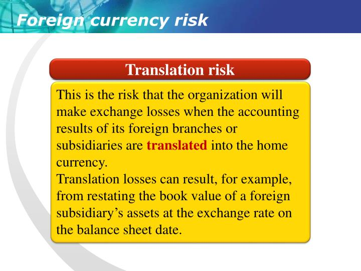 Translation risk