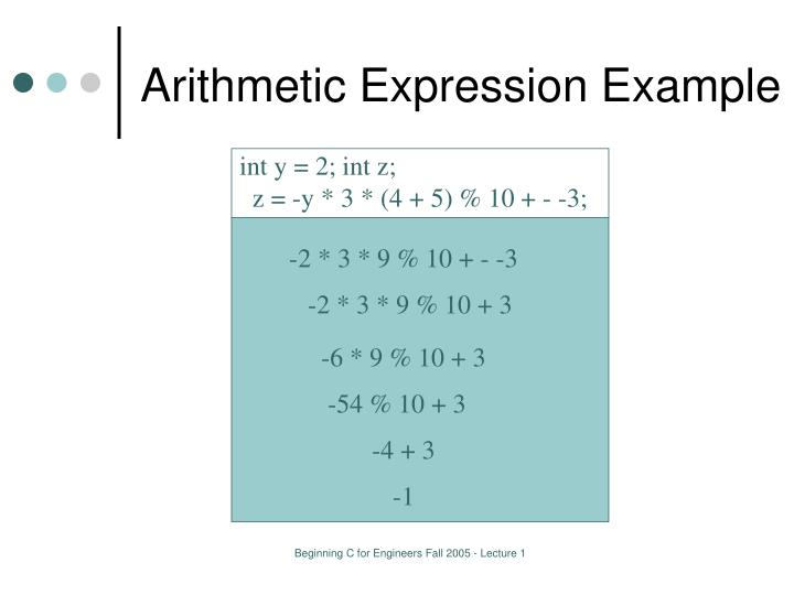 Arithmetic Expression Example
