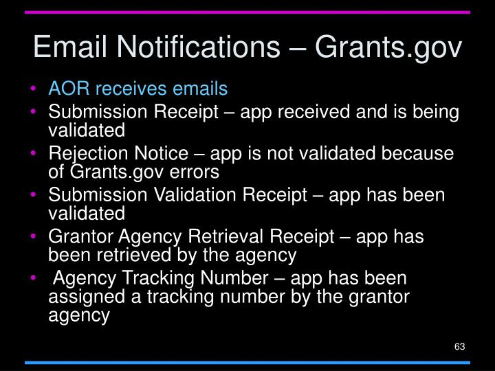 Email Notifications – Grants.gov
