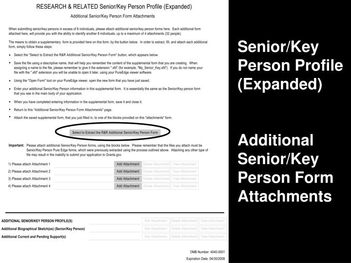 Senior/Key Person Profile (Expanded)