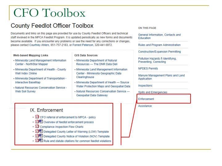 CFO Toolbox