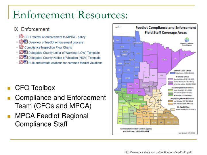 Enforcement Resources: