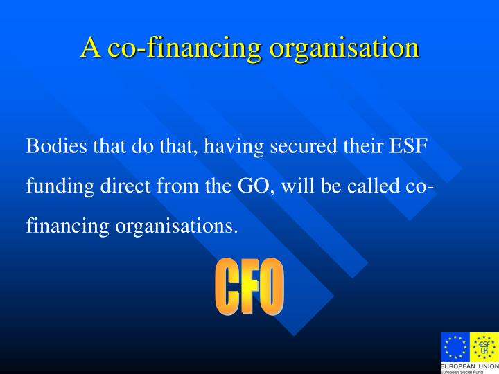 A co-financing organisation