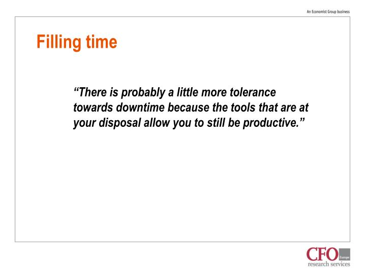 Filling time