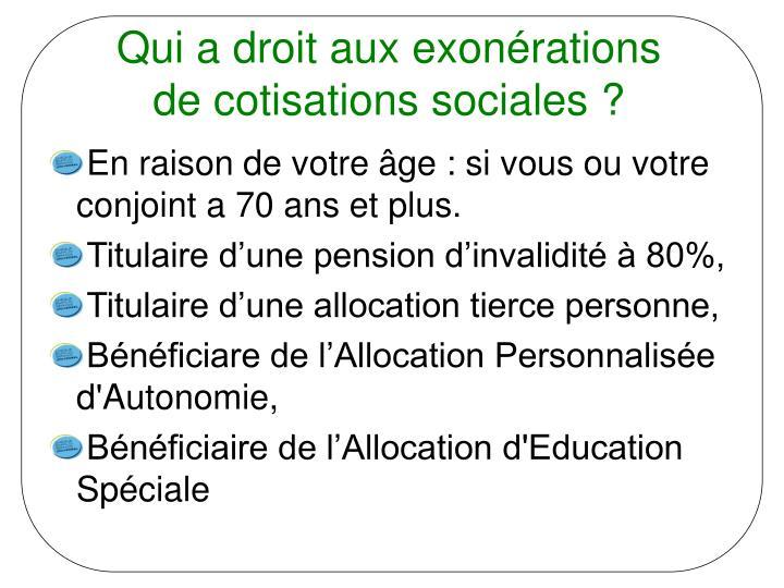 Qui a droit aux exonérations de cotisations sociales ?
