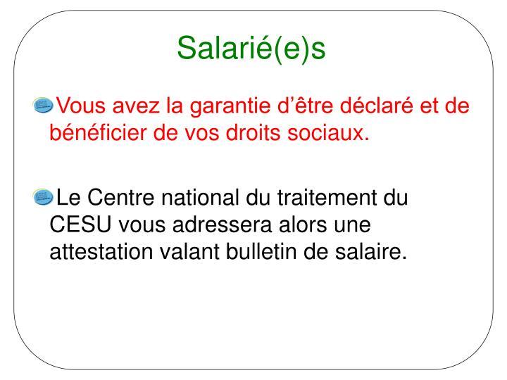 Salarié(e)s