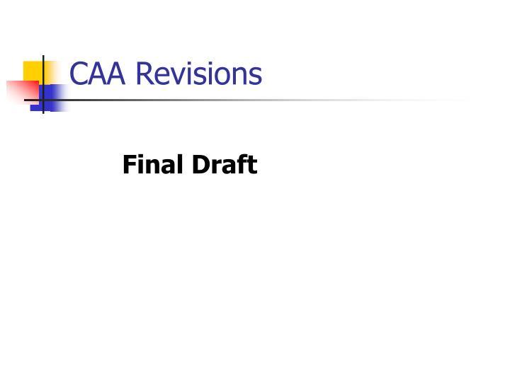 CAA Revisions
