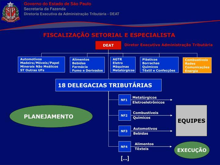 FISCALIZAÇÃO SETORIAL E ESPECIALISTA