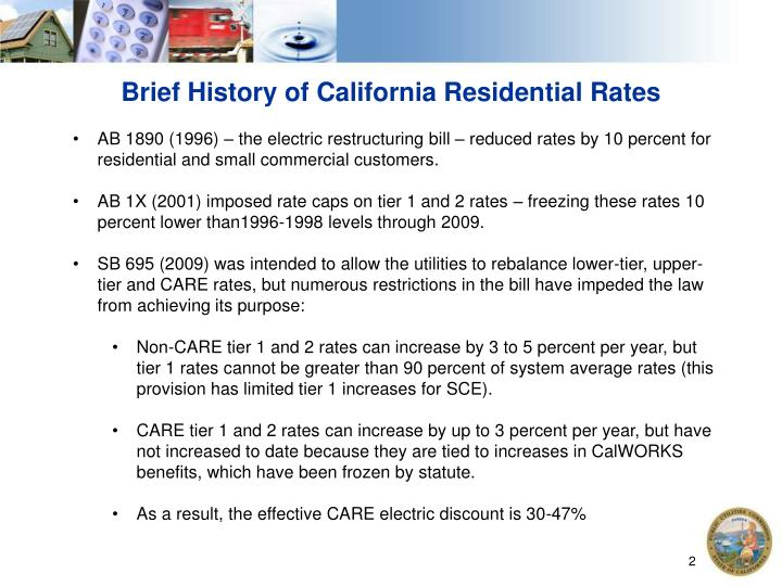 Brief History of California Residential Rates