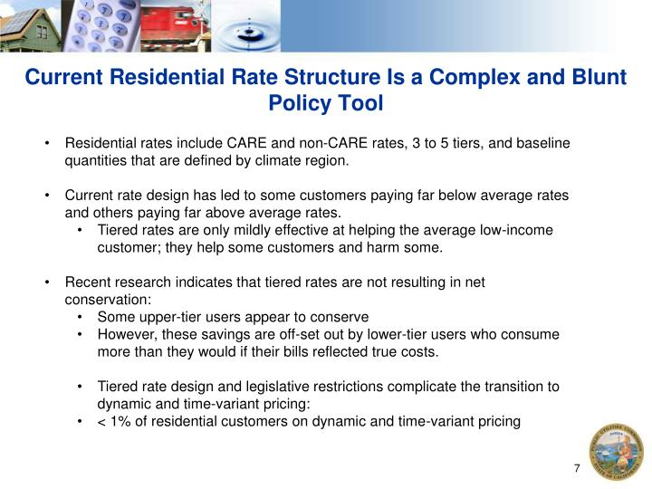 Current Residential Rate Structure Is a Complex and Blunt Policy Tool