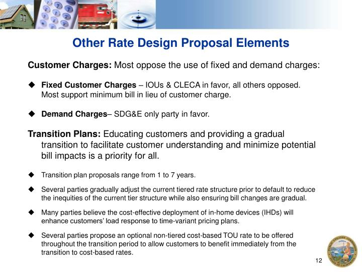 Other Rate Design Proposal Elements