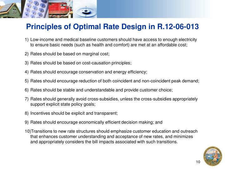Principles of Optimal Rate Design in R.12-06-013