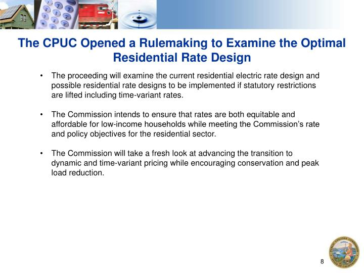 The CPUC Opened a Rulemaking to Examine the Optimal