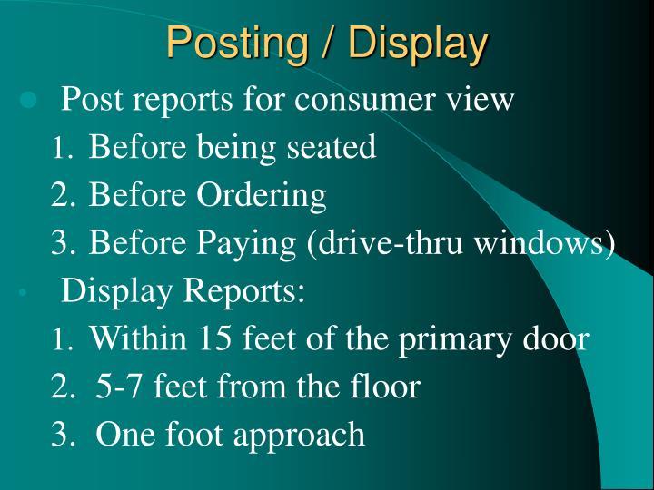 Posting / Display