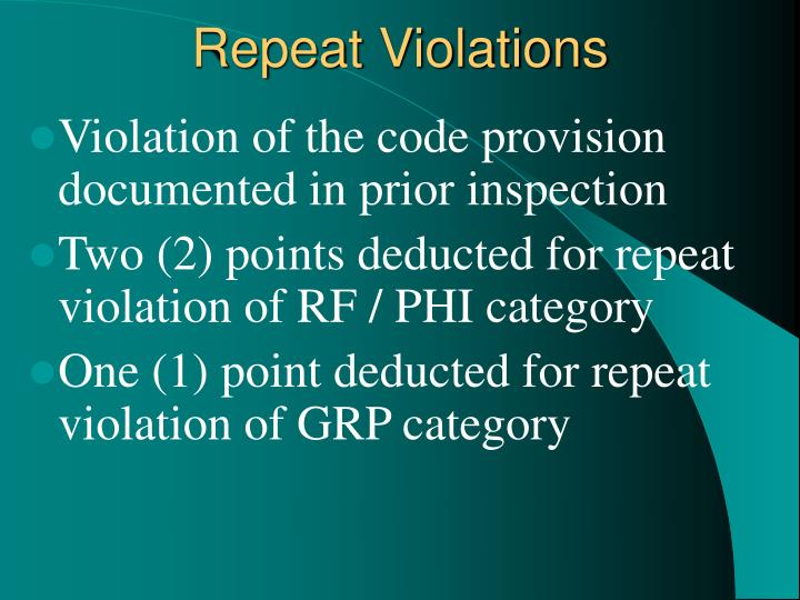 Repeat Violations