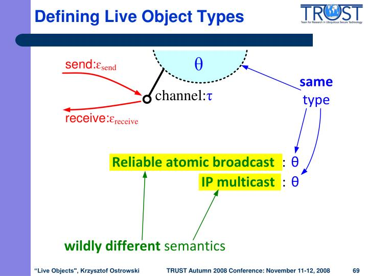 Defining Live Object Types