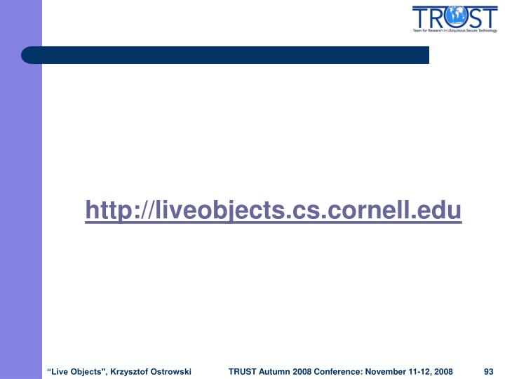 http://liveobjects.cs.cornell.edu