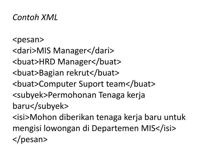 Contoh XML
