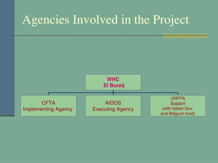 Agencies Involved in the Project