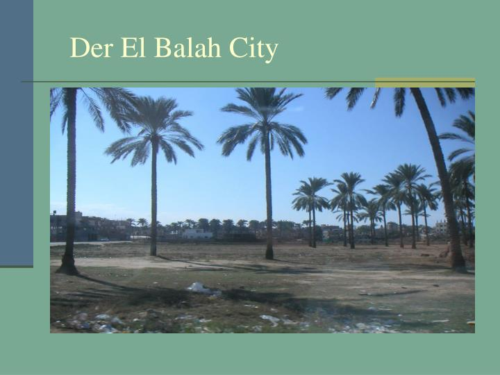 Der El Balah City