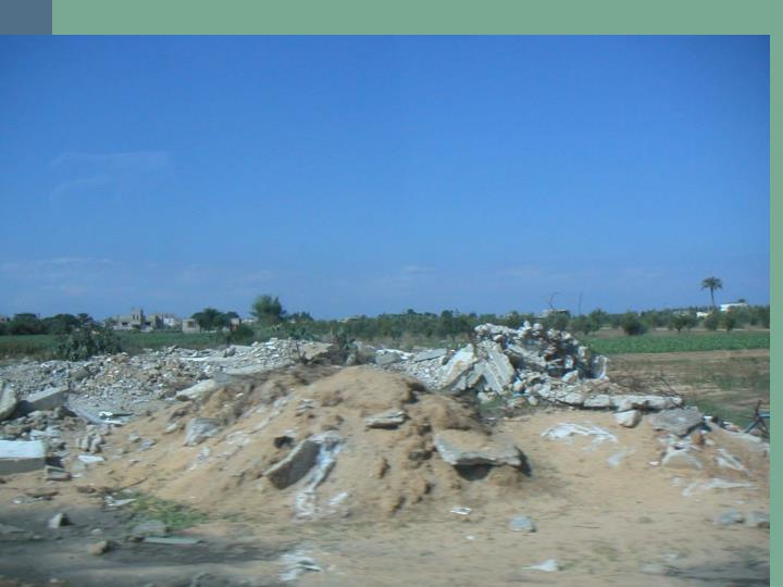 Picture of homes destroyed after invasion of Israeli Military