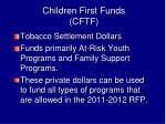 children first funds cftf