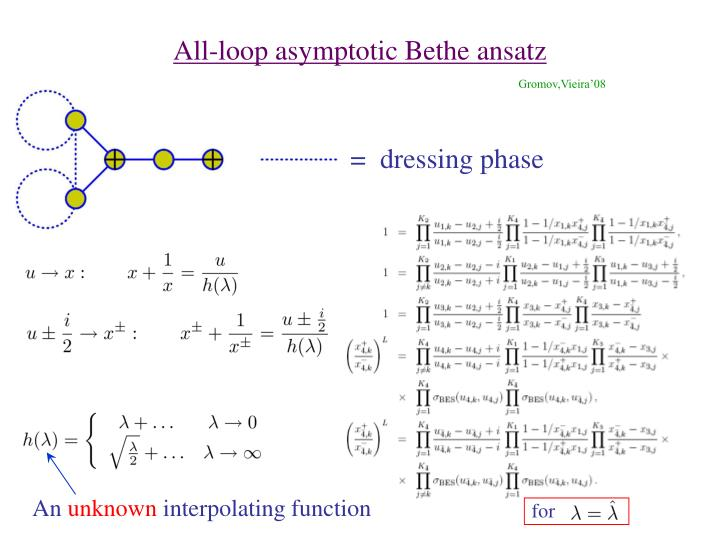 All-loop asymptotic Bethe ansatz