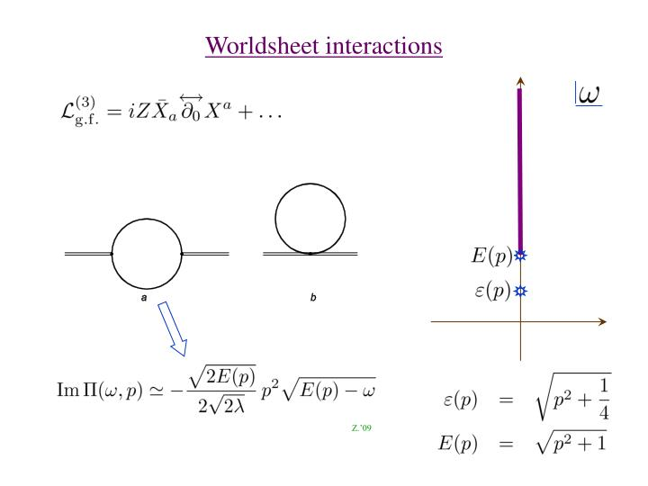 Worldsheet interactions
