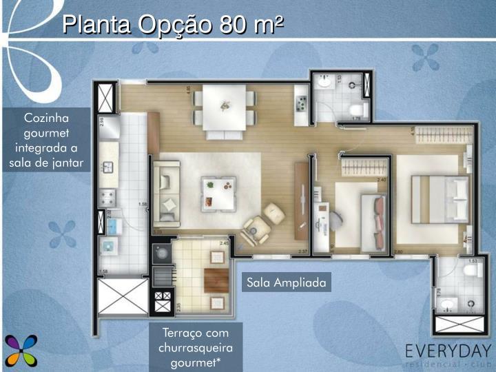 Planta Opção 80 m²