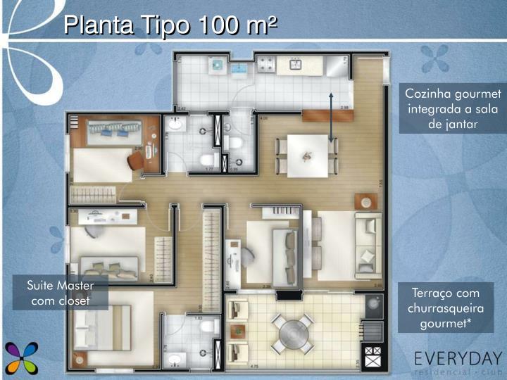 Planta Tipo 100 m²