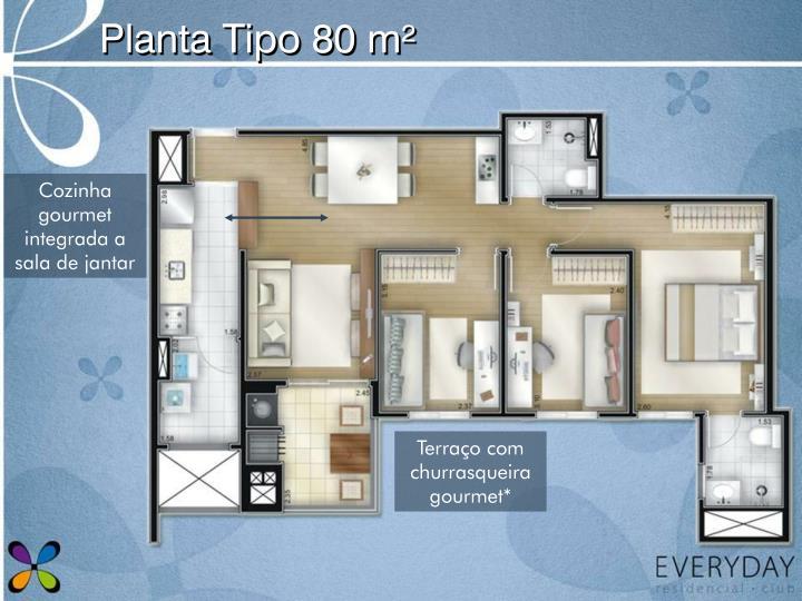 Planta Tipo 80 m²