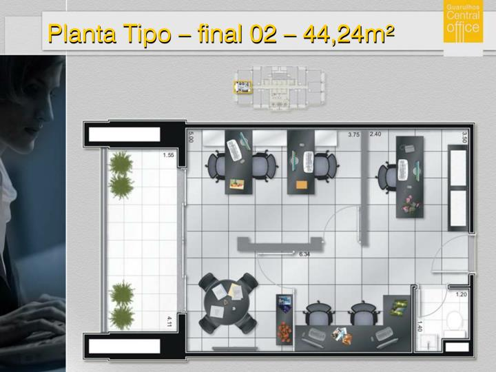 Planta Tipo – final 02 – 44,24m²