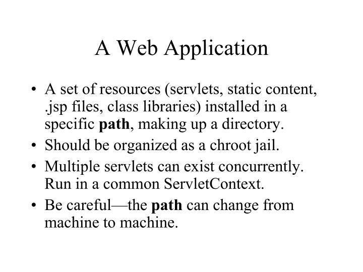 A Web Application