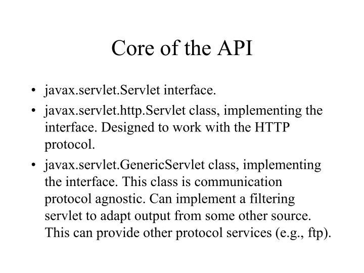 Core of the API
