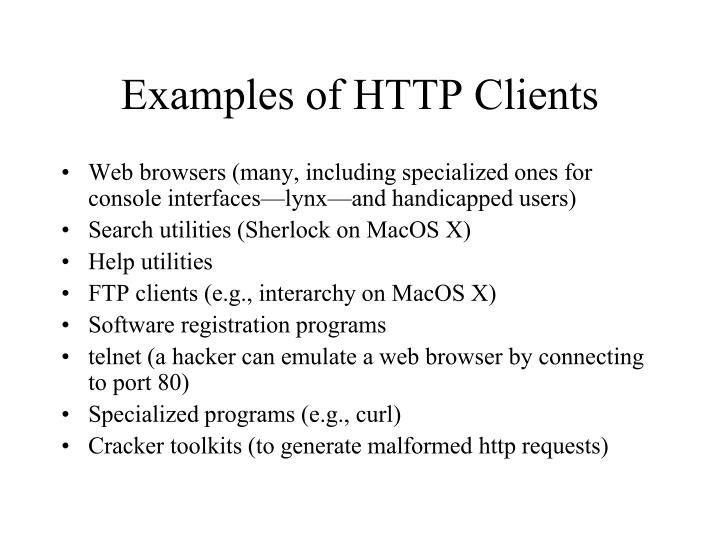 Examples of HTTP Clients
