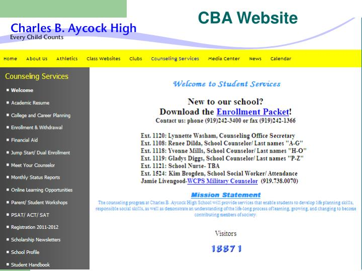 CBA Website