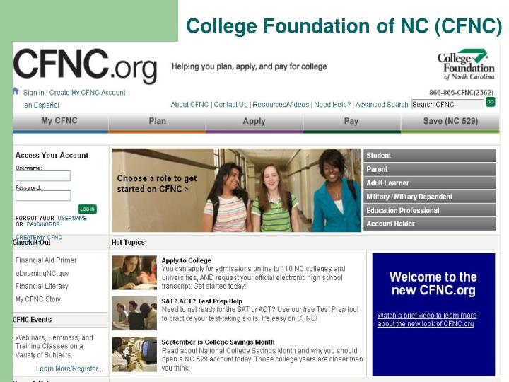 College Foundation of NC (CFNC)