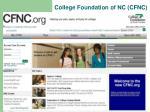 college foundation of nc cfnc