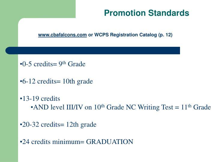 Promotion Standards