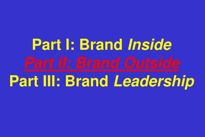 Part I: Brand