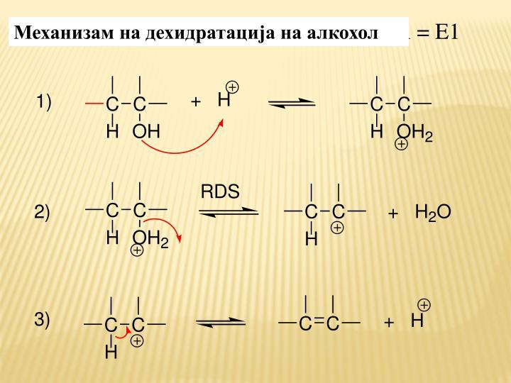 Механизам на дехидратација на алкохол